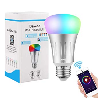 Test Ampoule E27 Intelligente LED WiFi, Bawoo 7W Ampoule