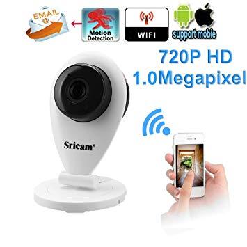 Test Caméra IP Sans fil, Sricam Wifi Caméra Surveillance