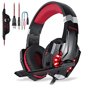 Test EasySMX Micro Casque PS4 Gaming, Casque Audio Stéréo Basse