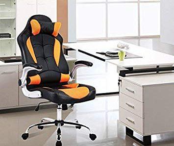 Test UEnjoy Fauteuil pivotant Chaise de bureau Noir chair avec