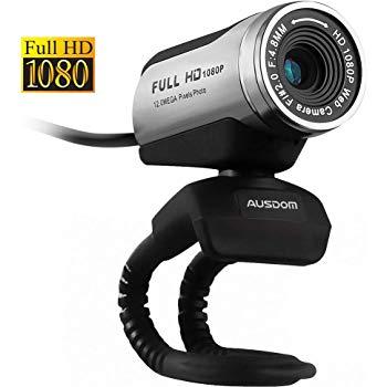 Test Webcam HD 1080P, Ausdom® AW615 USB Caméra PC avec