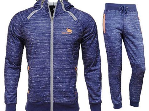 Test AIRAVATA Homme Ensemble Pantalon de Sport Sweatshirt à