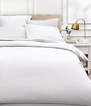 Test AmazonBasics Parure de lit en satin de coton, 400 fils au