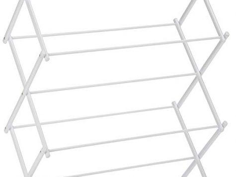Test AmazonBasics Séchoir à linge pliant - Blanc