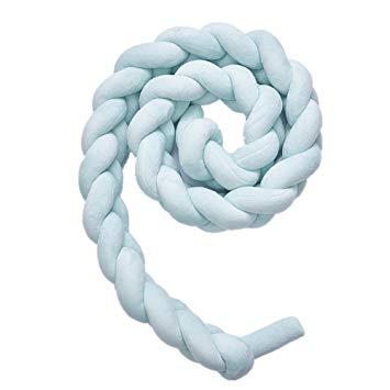 Test Chteng tour de lit de bébé coussin, nœud tressé à la