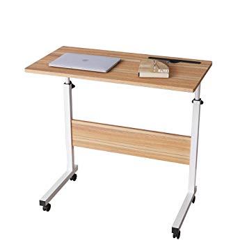 Test DlandHome Table Roulant de Lit Canapé pour Ordinateur