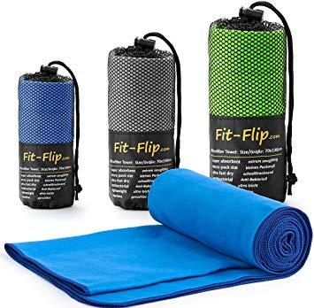 Test Fit-Flip Serviette en Microfibre légère et à séchage
