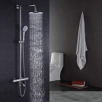 Test Hausbath thermostatique de salle de bain moderne Chrome