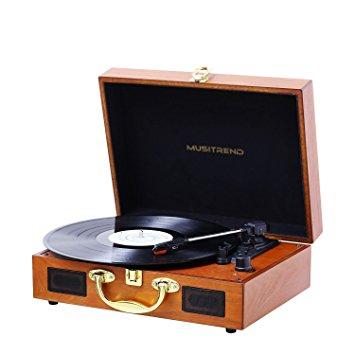 Test MUSITREND Platine Vinyle Tourne-Disques Valise Portable avec