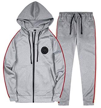 Test Manluodanni Homme Ensemble Jogging Sports Survêtement