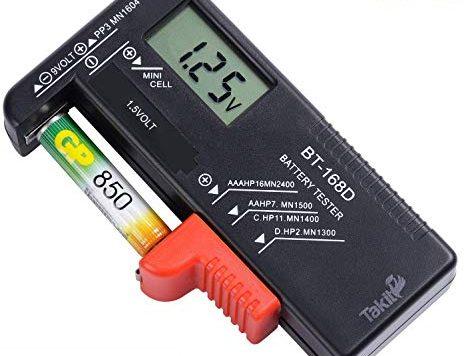 Test TAKIT Testeur de Piles numérique pour AA, AAA, C, D, PP3,