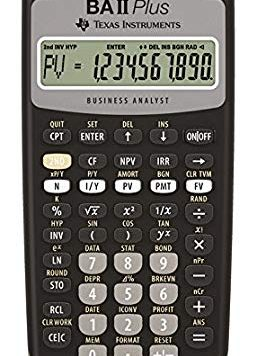 Test Texas Instruments BA-II-Plus Calculatrice financière 10