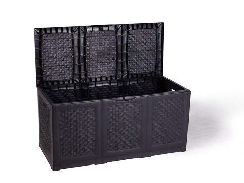 Test stockage Vanage Hippo plastique 120x52x60 cm de haut en noir