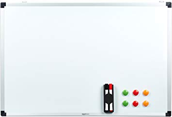 Test AmazonBasics Tableau blanc magnétique avec cadre en