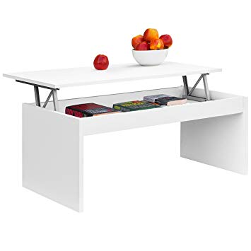 Test COMIFORT Table Basse relevable Moderne Chevet de café Salle