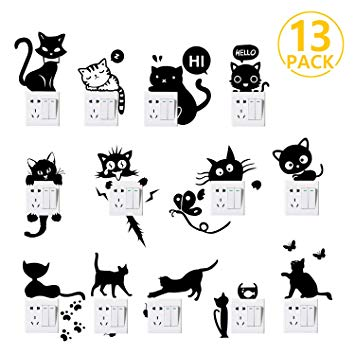 Test Foonii 13 PCS Autocollant mural, Sticker interrupteur PVC