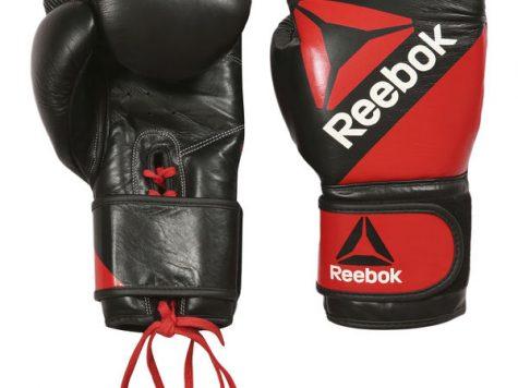 Test Reebok Combat en Cuir Gants d'entraînement de Boxe Mixte
